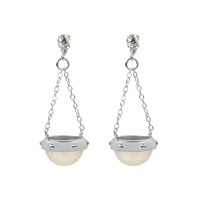 mabe pearl scale earrings
